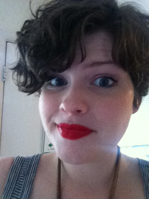 My favorite lip color, L'Oreal Paris Infallible Lipcolour in Beyonce red